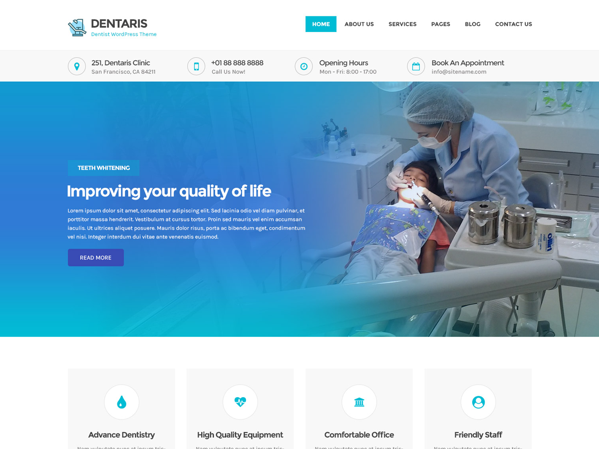 Dentaris Download Free Wordpress Theme 3