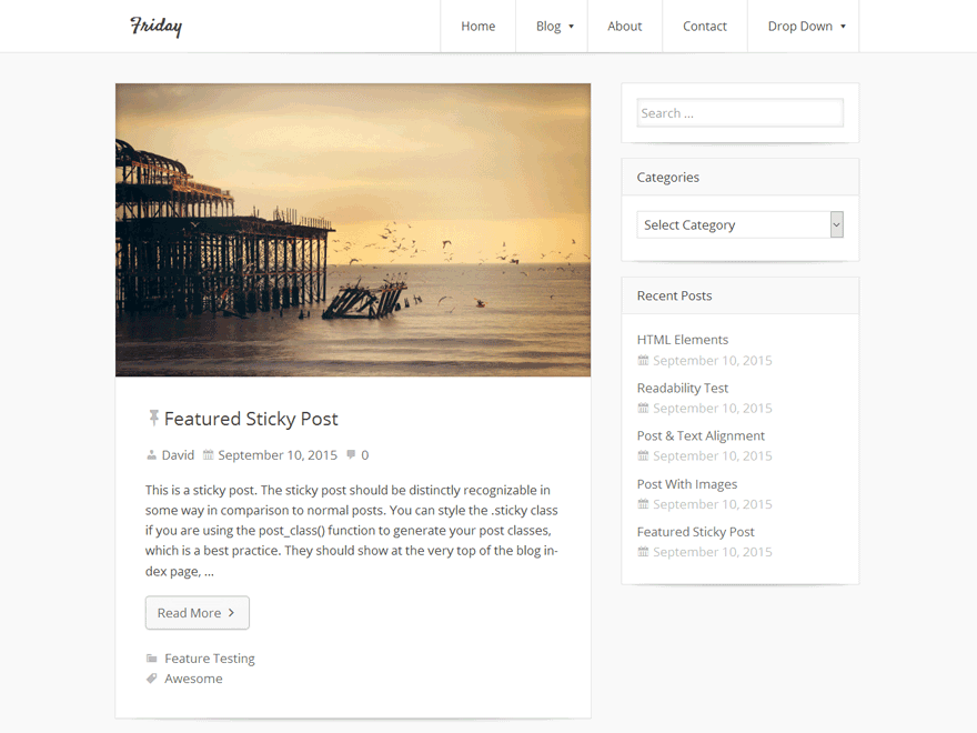 Friday Download Free Wordpress Theme 2
