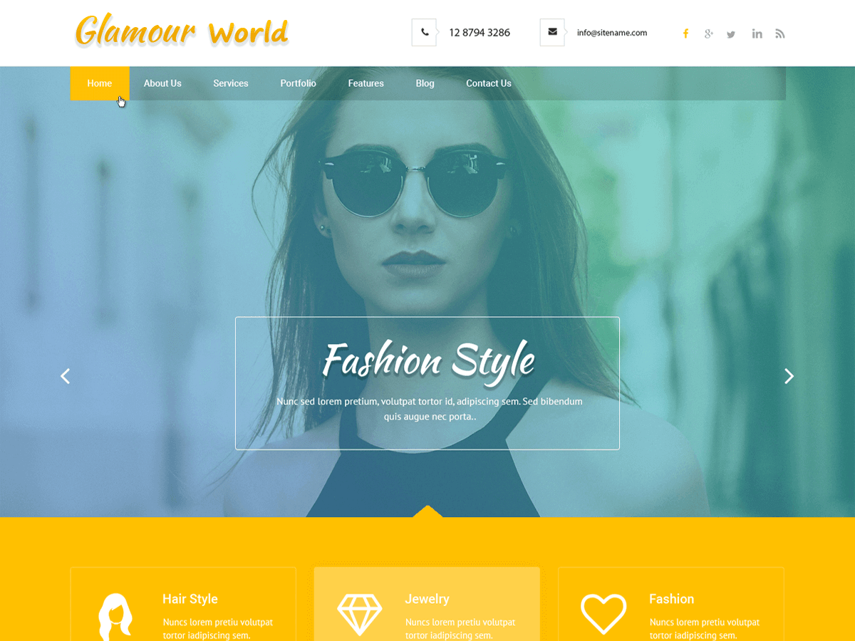 Glamour World Download Free Wordpress Theme 3