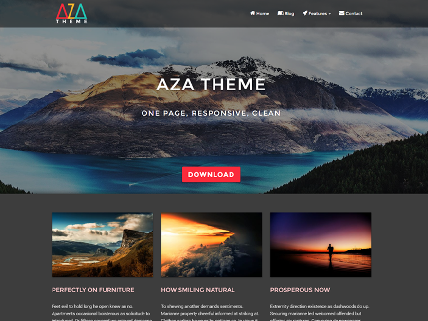 AZA Lite Download Free Wordpress Theme 5