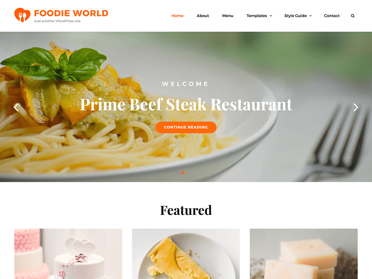 Foodie World Download Free Wordpress Theme 5