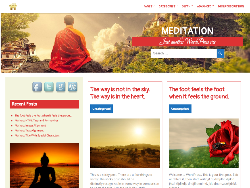Meditation Download Free Wordpress Theme 3