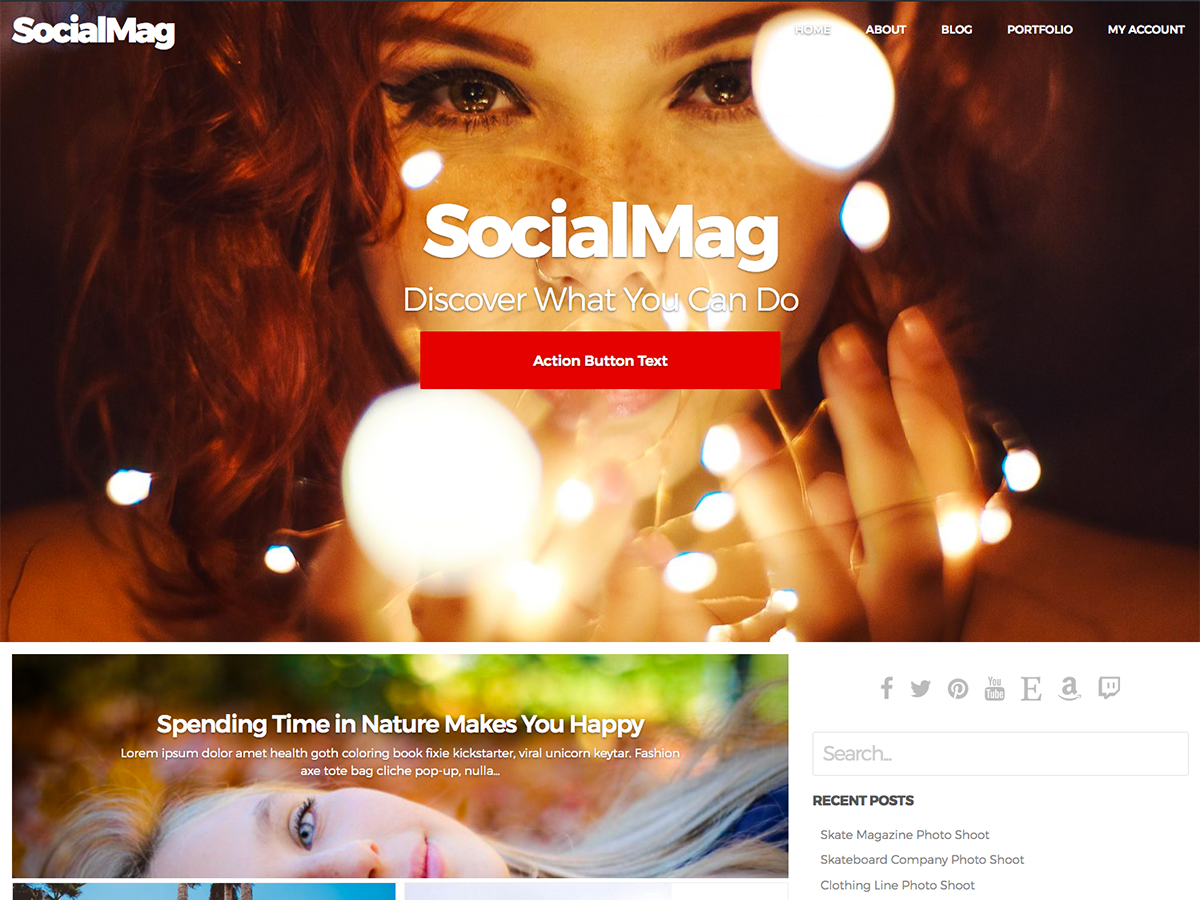 SocialMag Download Free Wordpress Theme 3