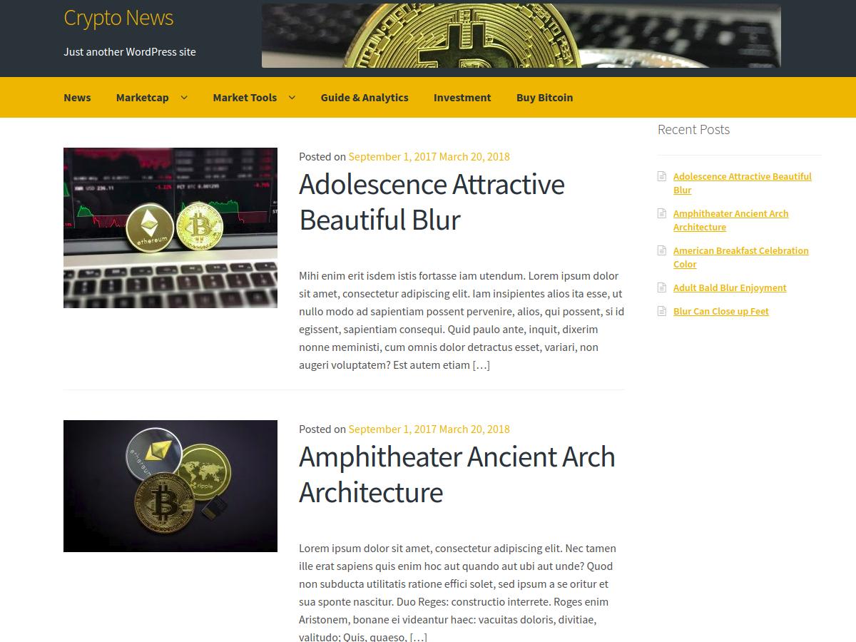 Crypto News Download Free Wordpress Theme 5