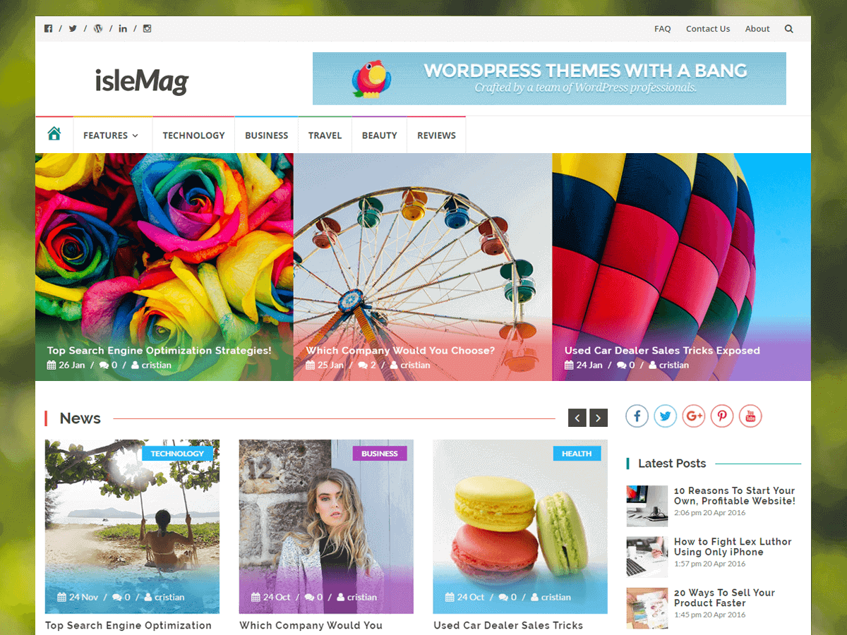 islemag Download Free WordPress Theme
