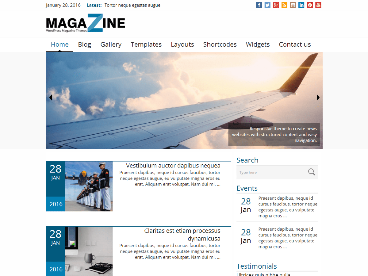 News Magazine Download Free Wordpress Theme 5