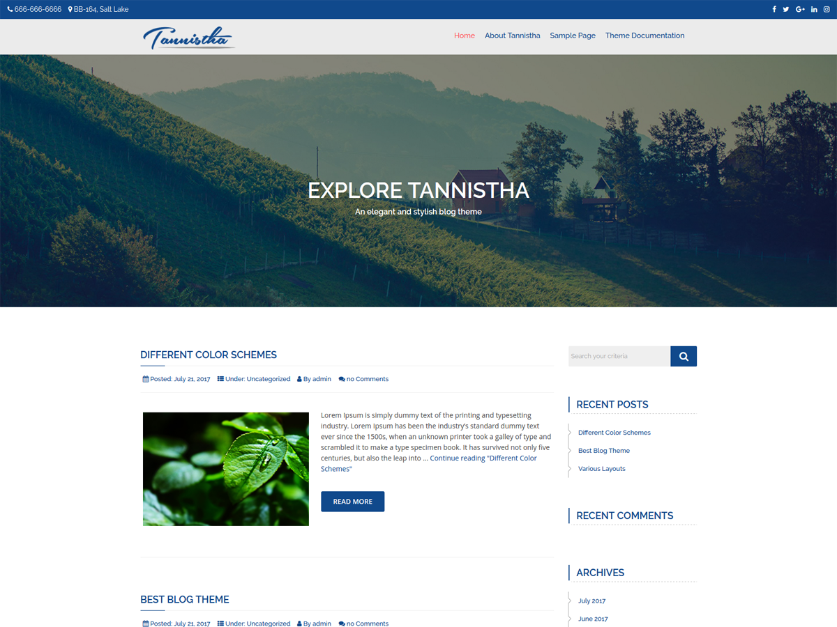 Tannistha Download Free Wordpress Theme 5