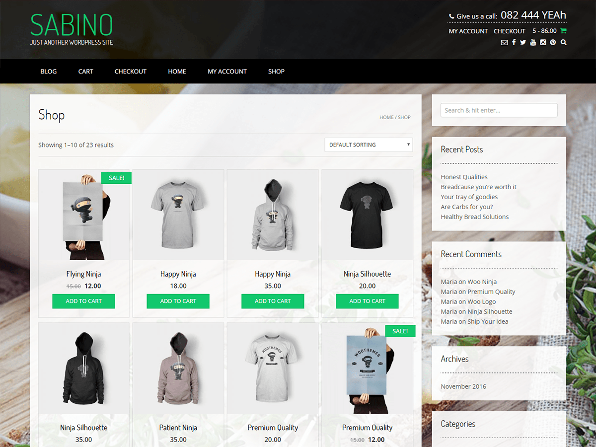 Sabino Download Free Wordpress Theme 4