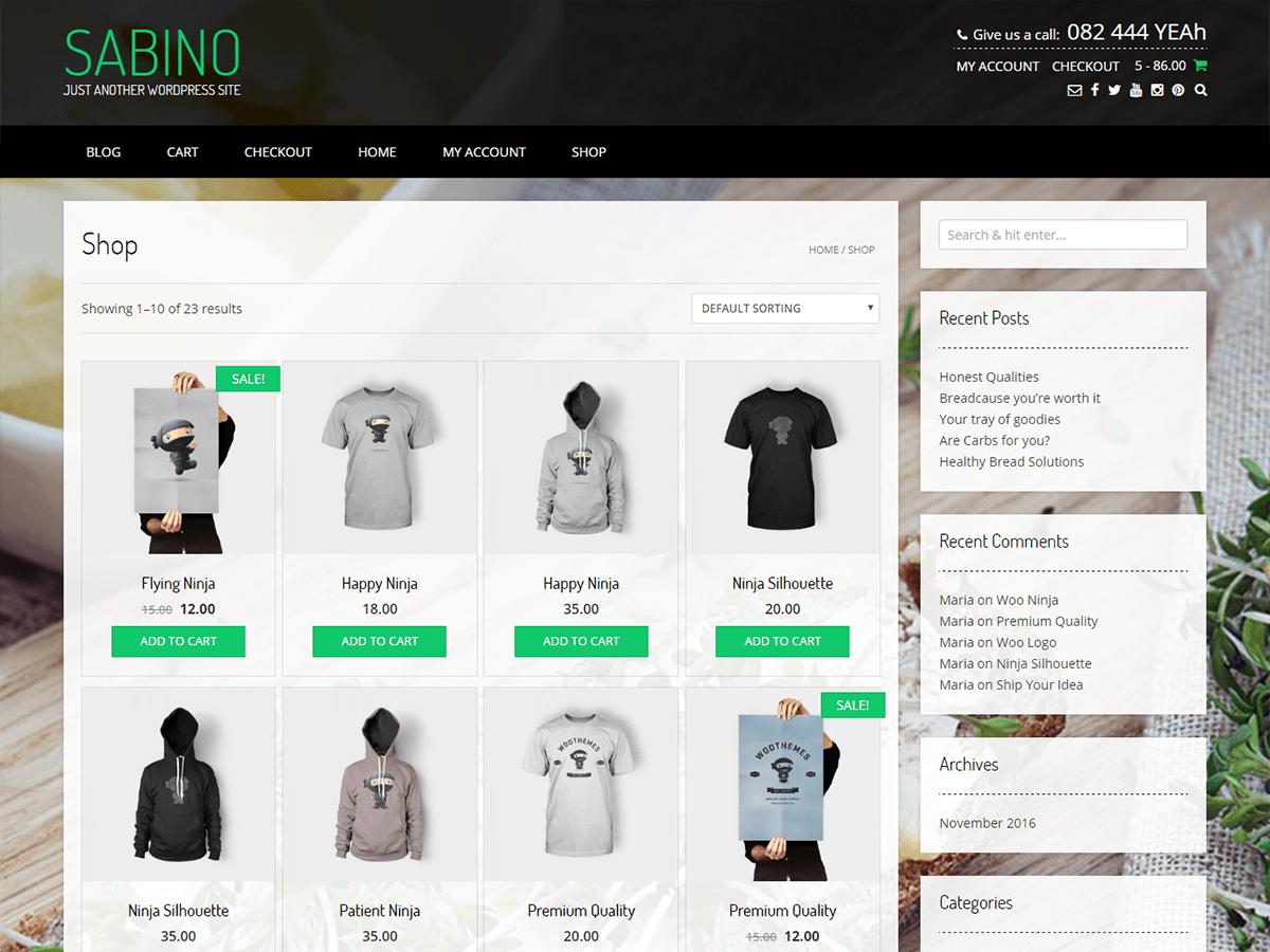 Sabino Download Free Wordpress Theme 2