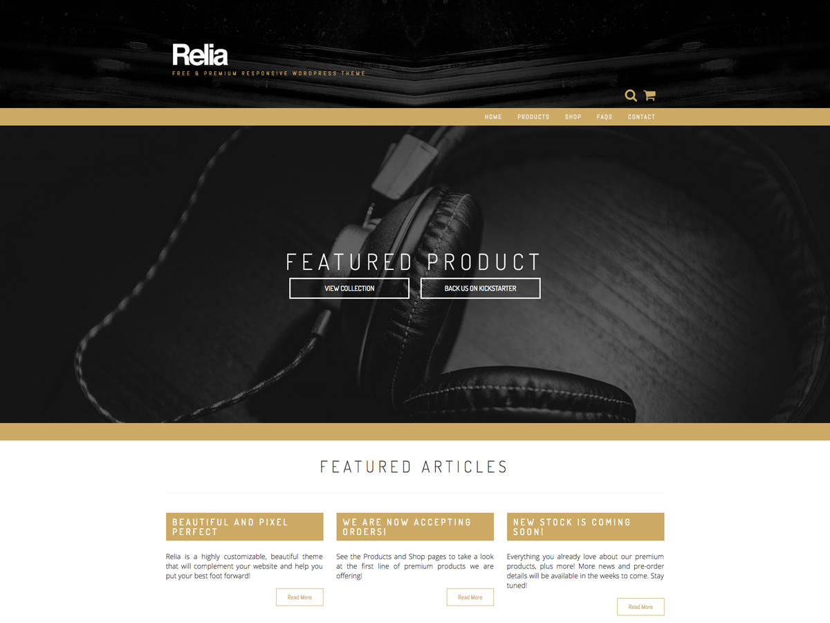 Relia Download Free Wordpress Theme 4
