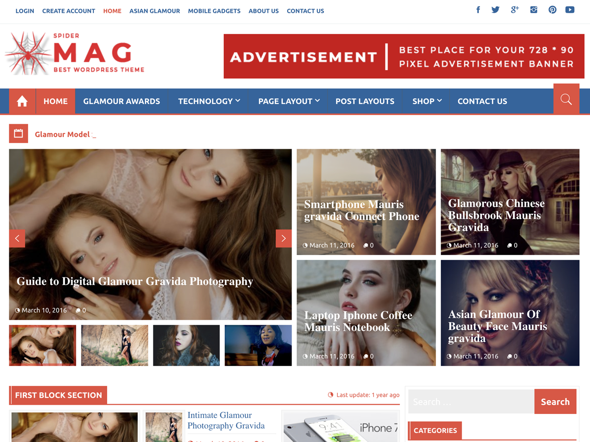 SpiderMag Download Free Wordpress Theme 5