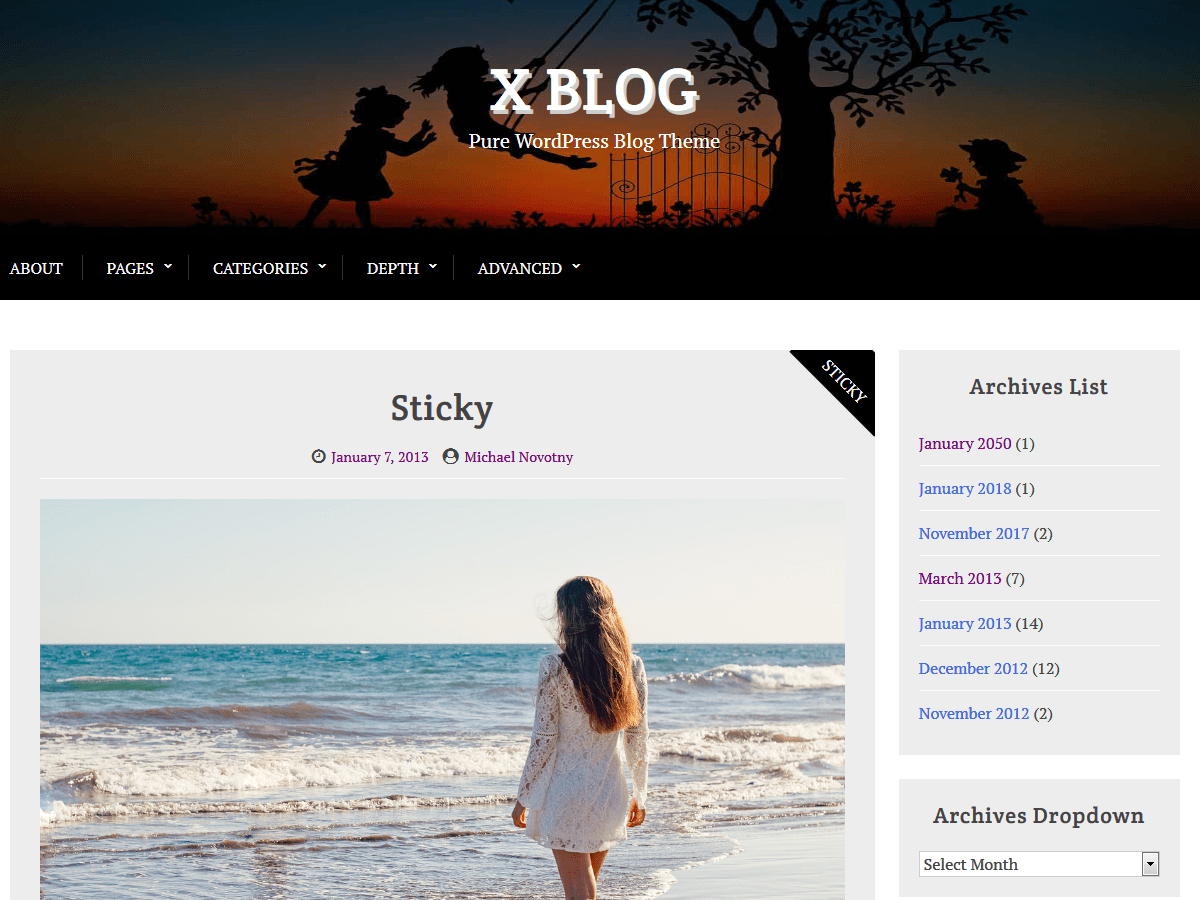 X Blog Download Free Wordpress Theme 1