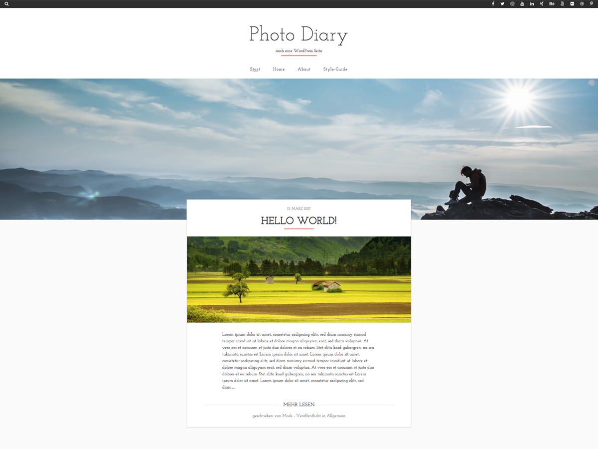 Photo Diary Download Free Wordpress Theme 1