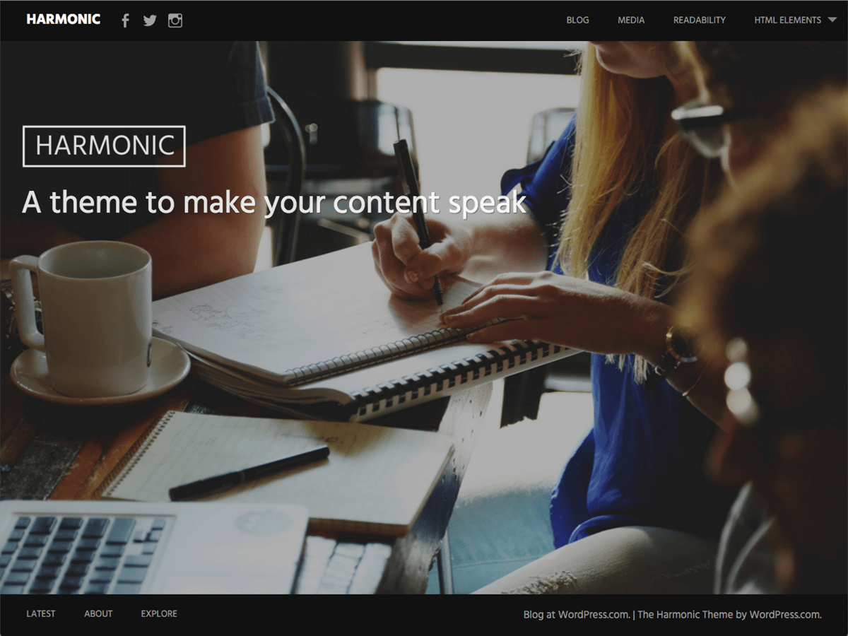 Harmonic Download Free Wordpress Theme 3