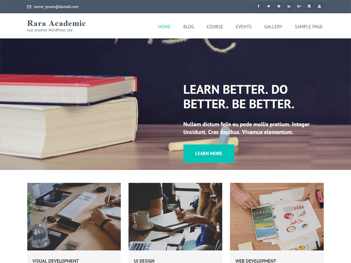 Rara Academic Download Free Wordpress Theme 1