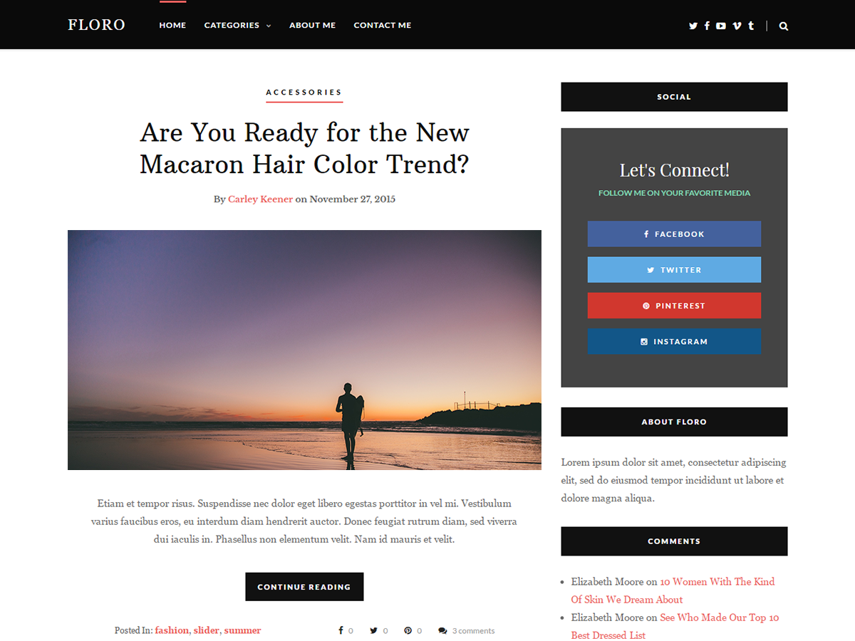 Floro Download Free Wordpress Theme 3