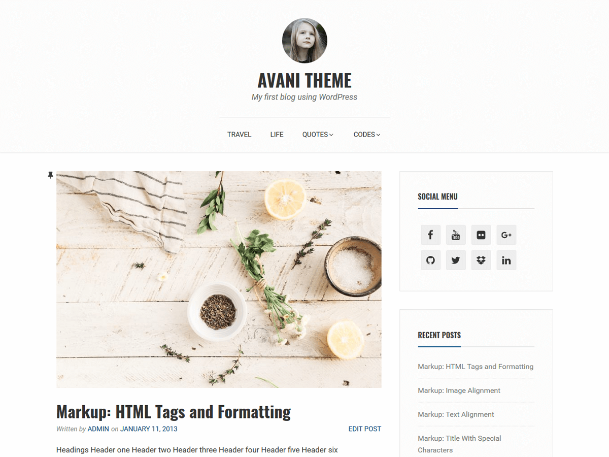 Avani Download Free Wordpress Theme 4