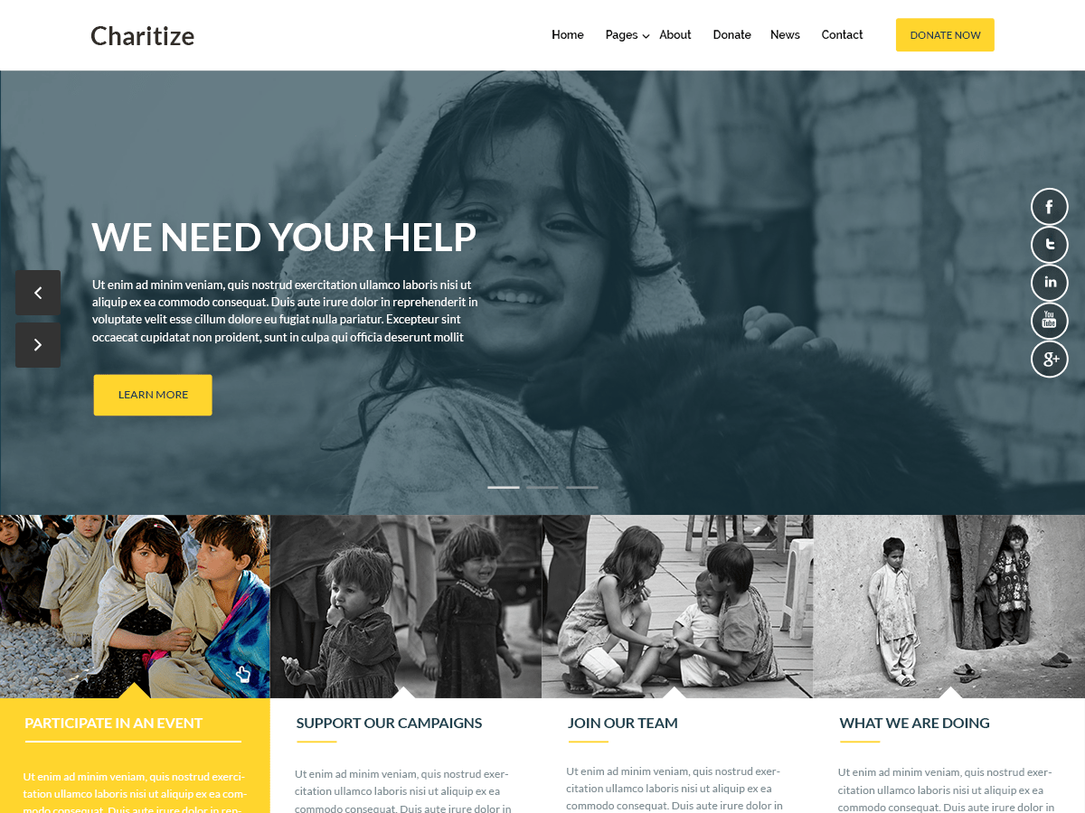 Charitize Download Free Wordpress Theme 3