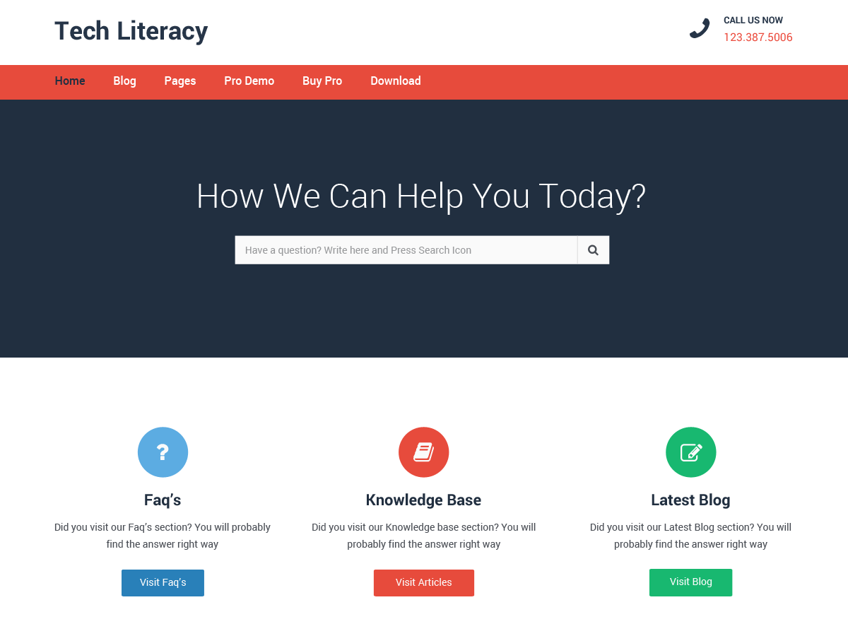 Tech Literacy Download Free Wordpress Theme 1