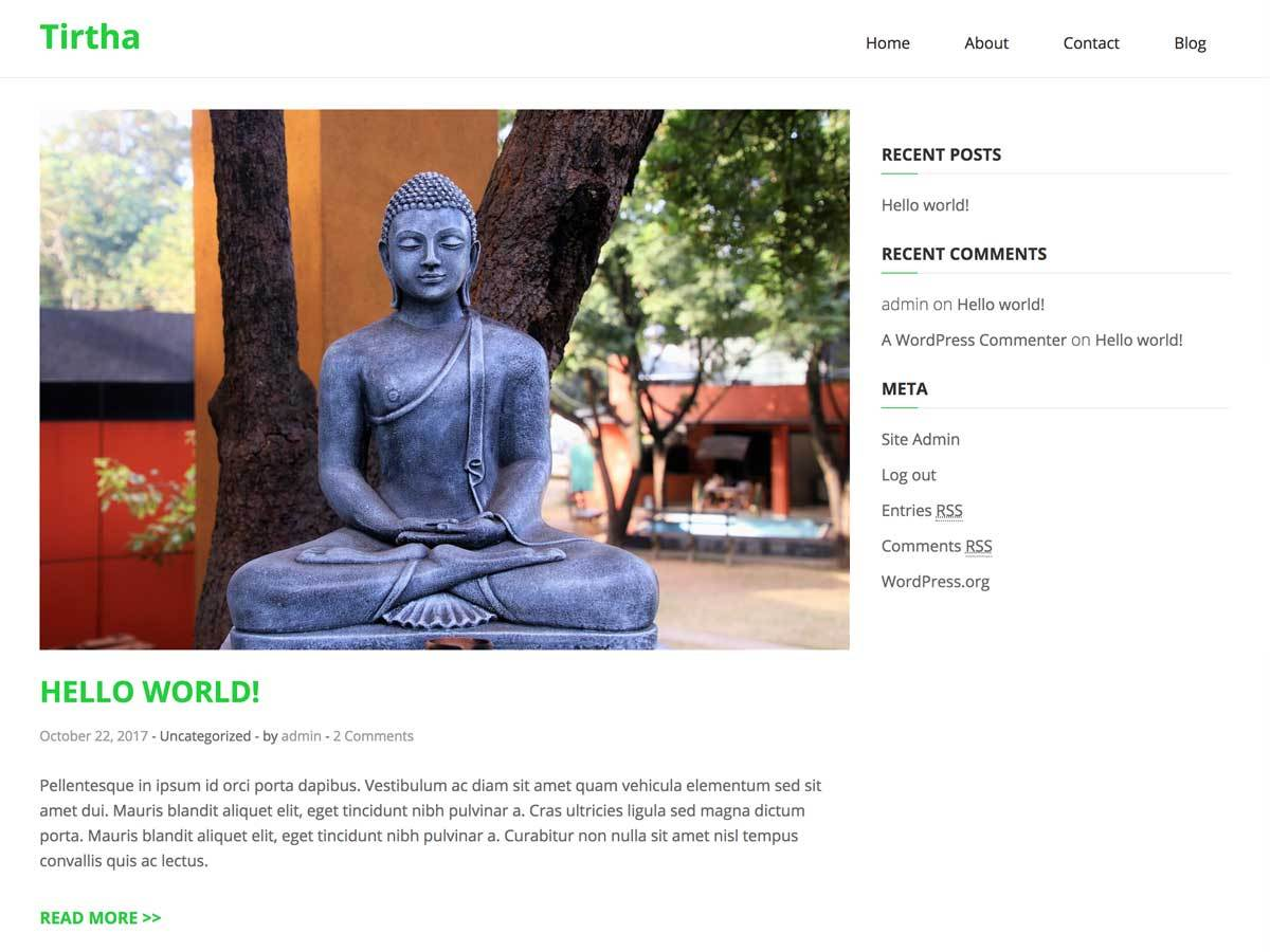 Tirtha Download Free Wordpress Theme 3