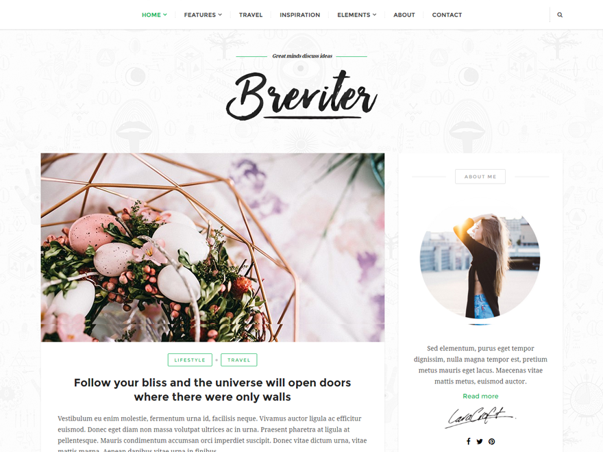 Breviter Download Free Wordpress Theme 2