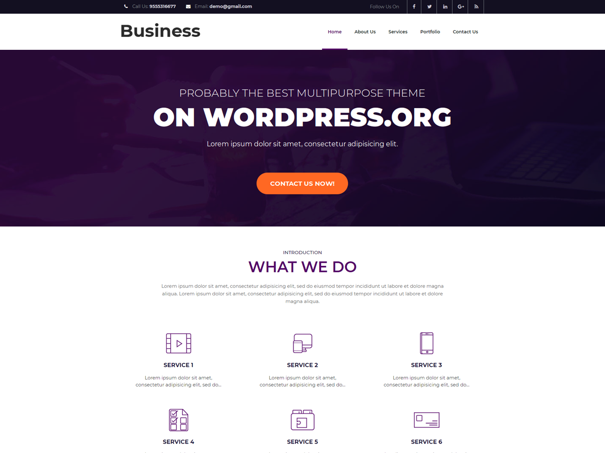 Business Booster Download Free Wordpress Theme 1