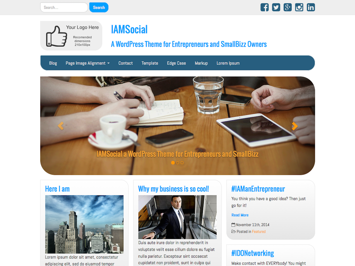 IAMSocial Download Free Wordpress Theme 2
