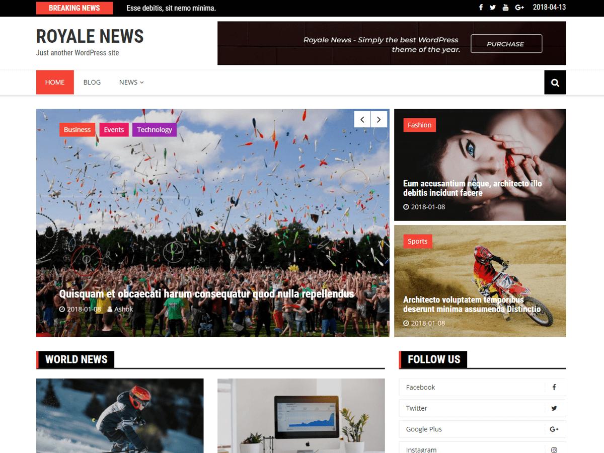 Royale News Download Free Wordpress Theme 4