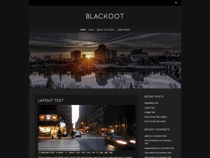 Blackoot Lite Download Free Wordpress Theme 2