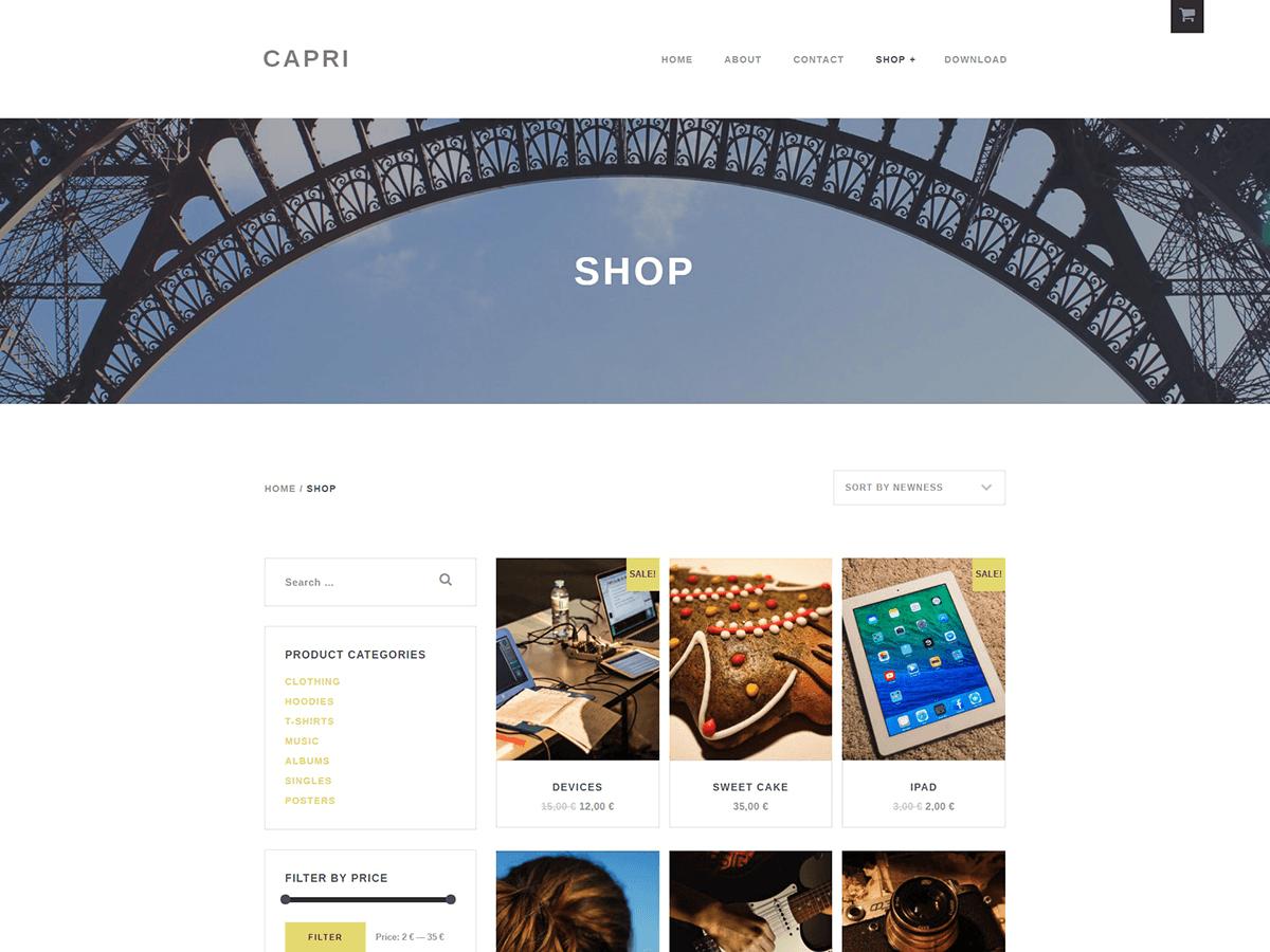Capri Lite Download Free Wordpress Theme 3