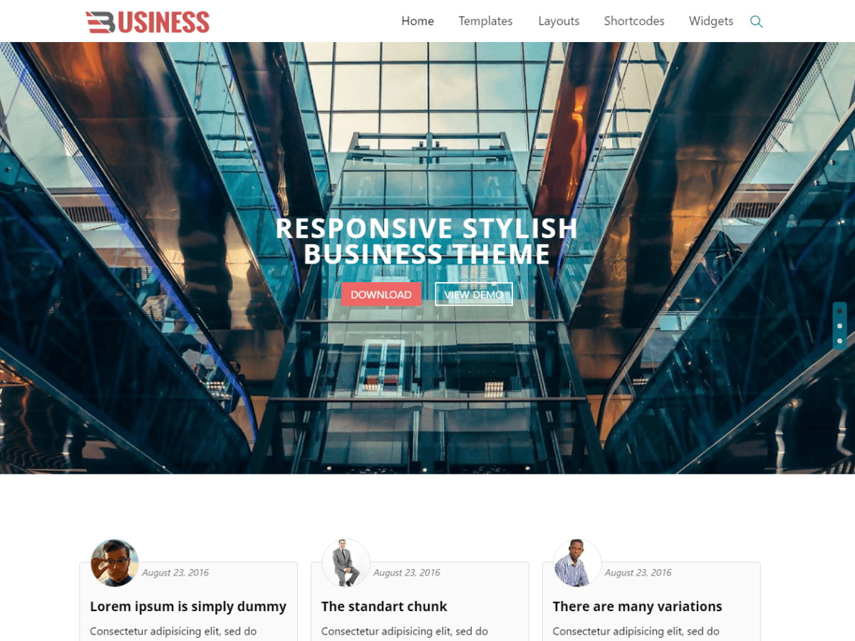 Business World Download Free Wordpress Theme 5