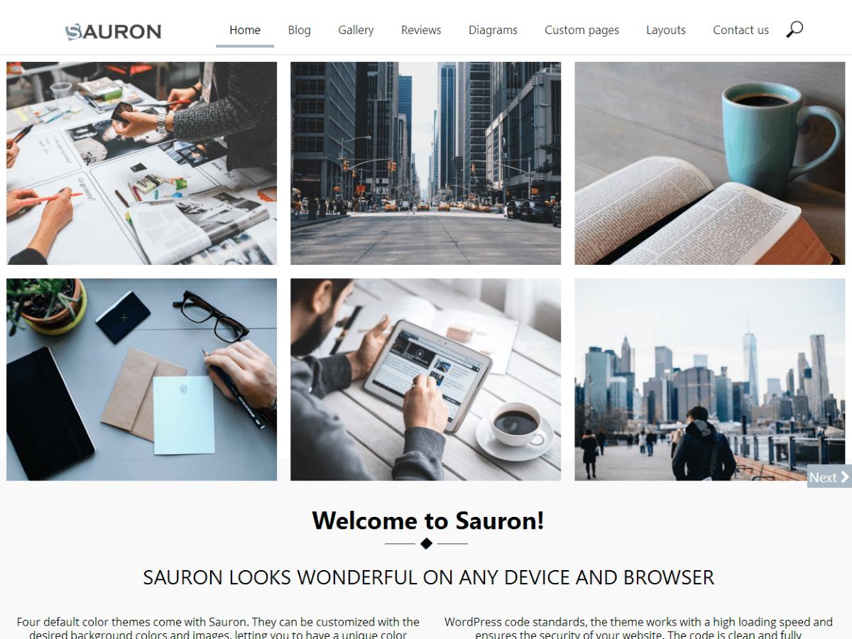 Sauron Download Free Wordpress Theme 2