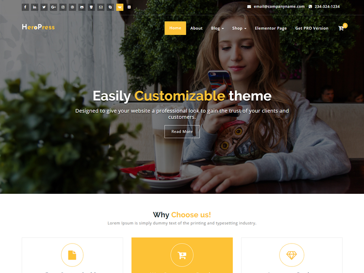 HeroPress Download Free Wordpress Theme 5