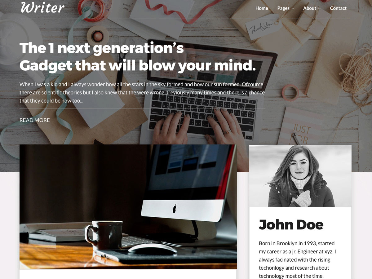 Writer Blog Download Free Wordpress Theme 2