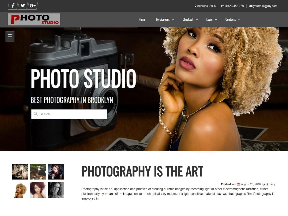 Photo Studio Download Free Wordpress Theme 3