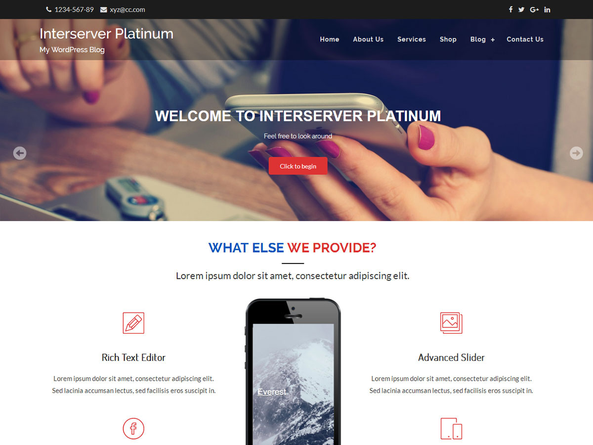 Interserver Platinum Download Free Wordpress Theme 2