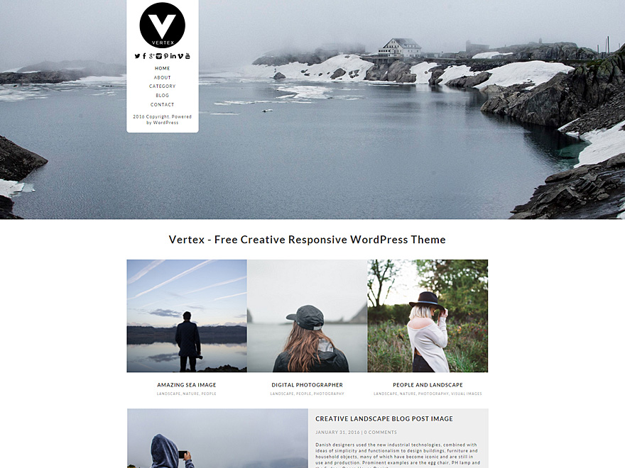Vertex Download Free Wordpress Theme 2