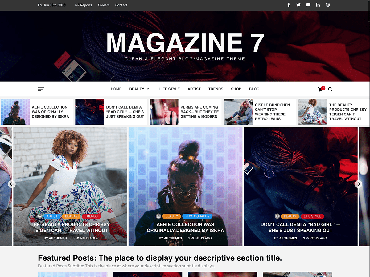Magazine 7 Download Free Wordpress Theme 4