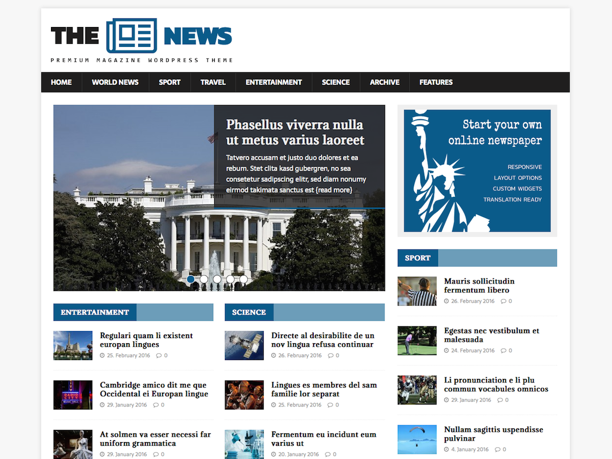 MH NewsMagazine Download Free Wordpress Theme 5