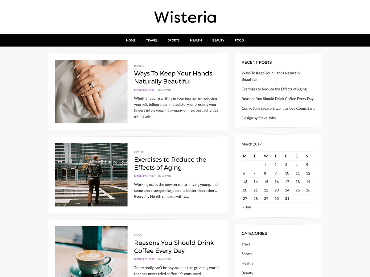 Wisteria Download Free Wordpress Theme 4