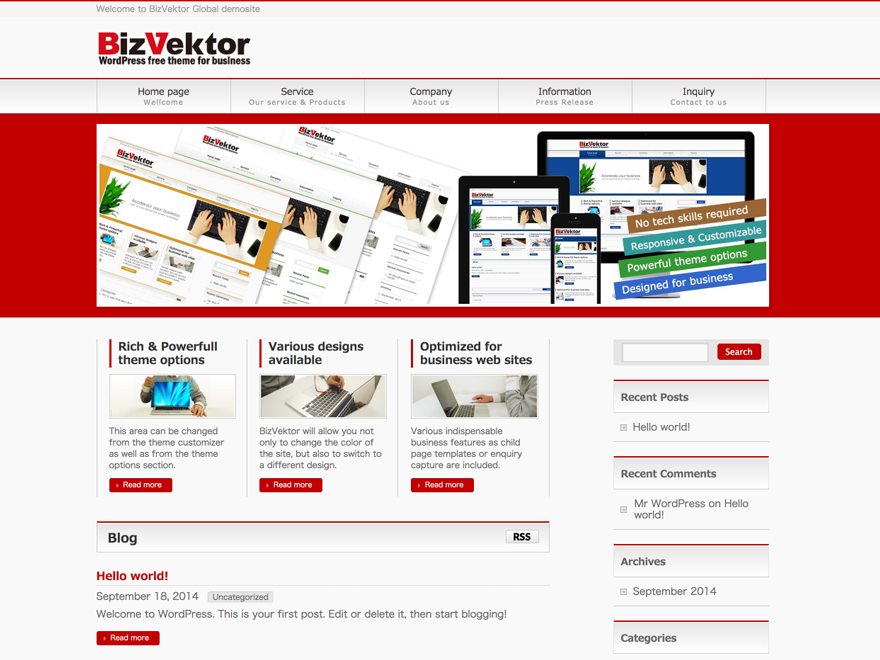 BizVektor Global Edition Download Free Wordpress Theme 3