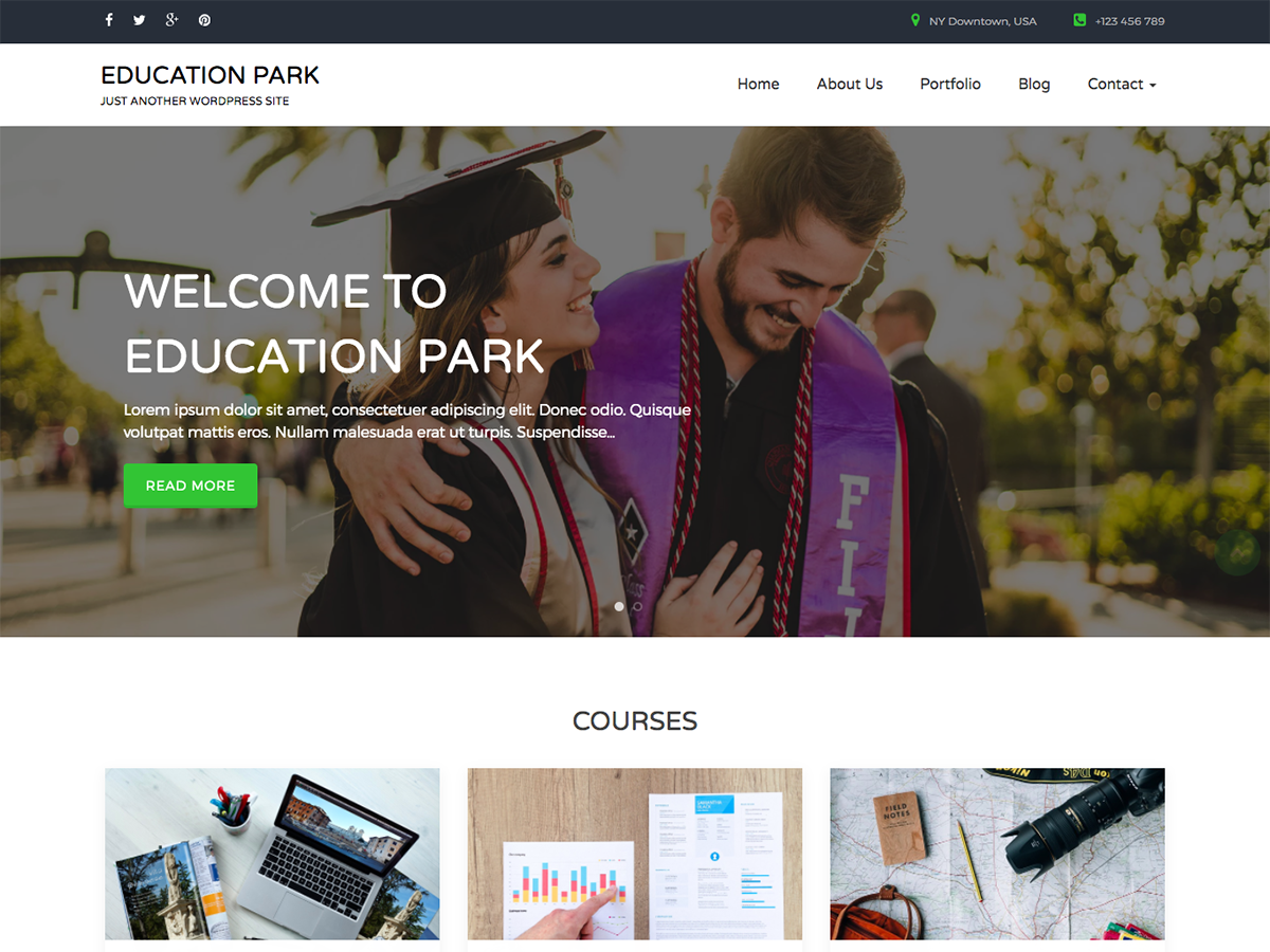 Education Park Download Free Wordpress Theme 1