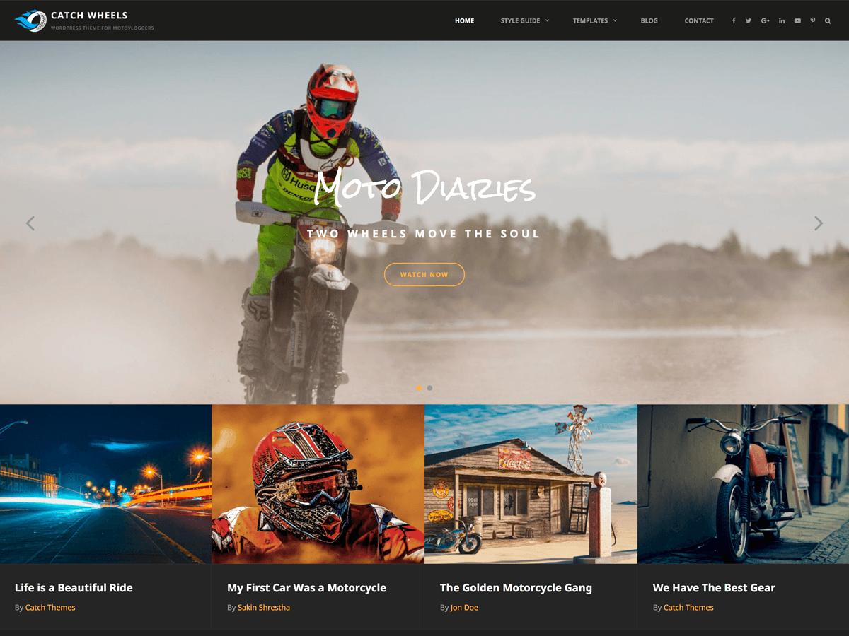 Catch Wheels Download Free Wordpress Theme 2