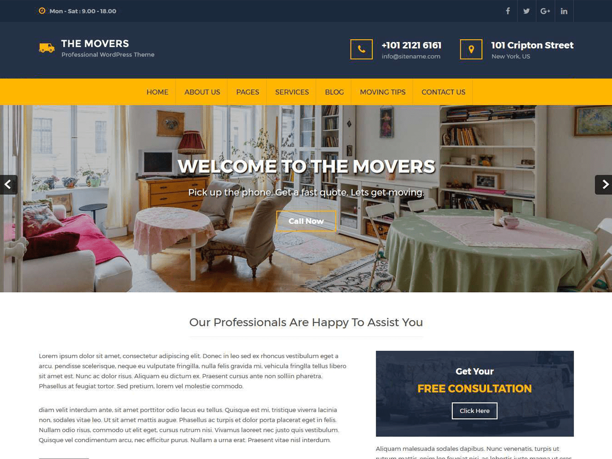 Movers Lite Download Free Wordpress Theme 5