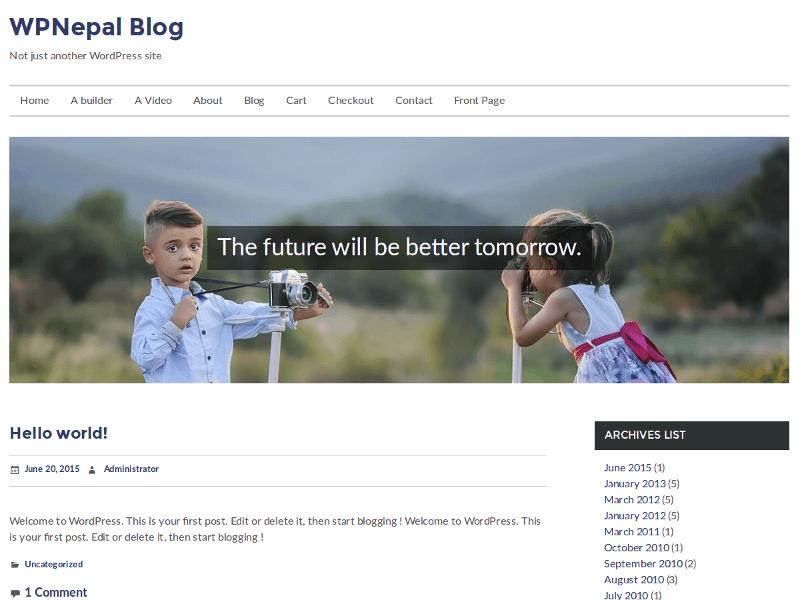 WPNepal Blog Download Free Wordpress Theme 3