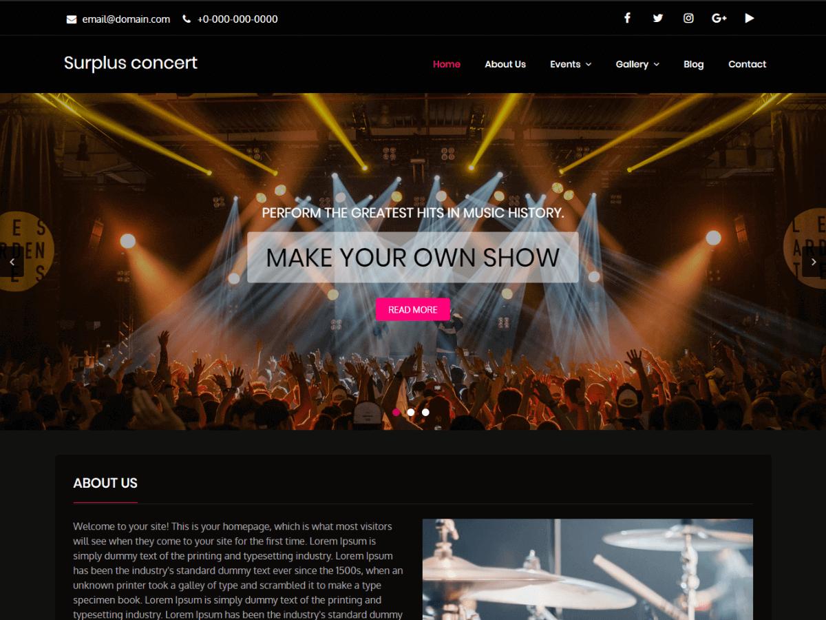 Surplus Concert Download Free Wordpress Theme 2