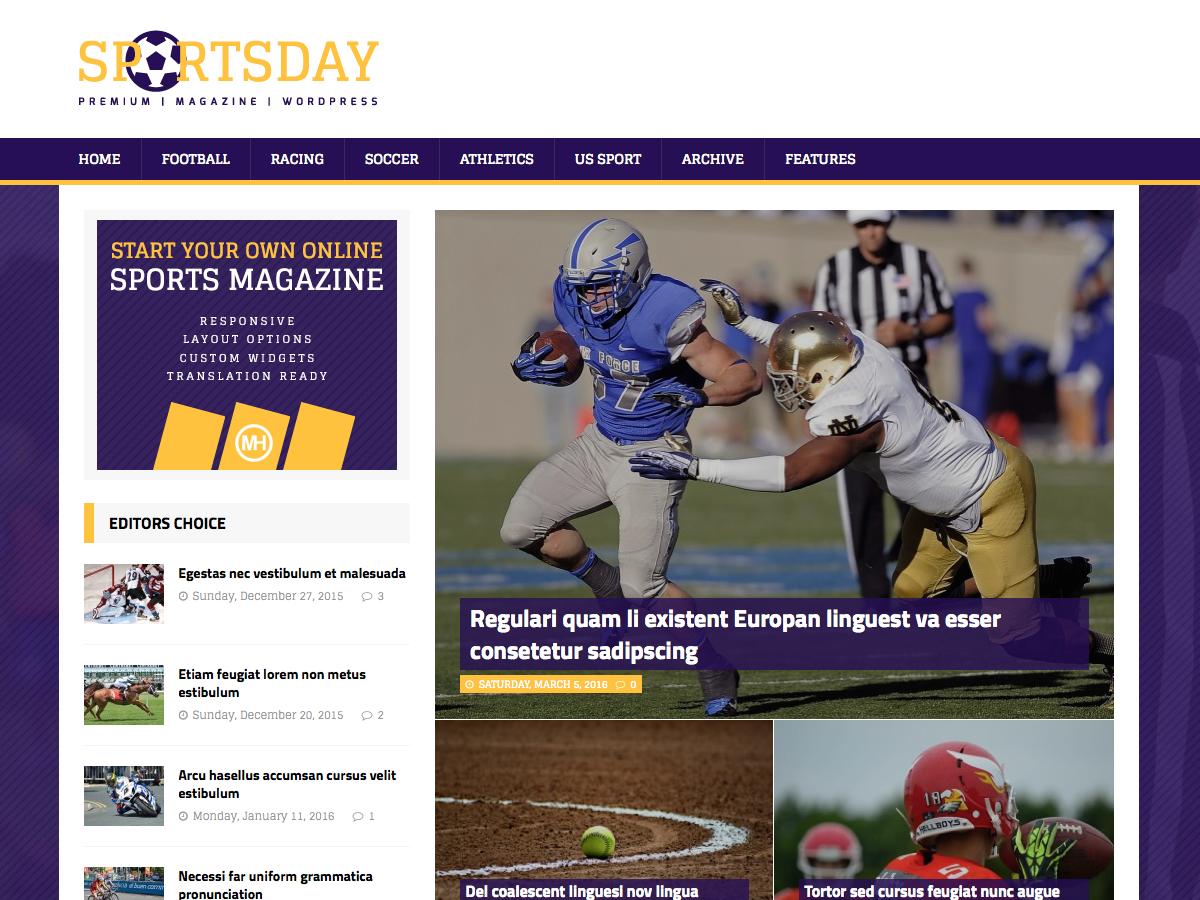 MH SportsMagazine Download Free Wordpress Theme 4