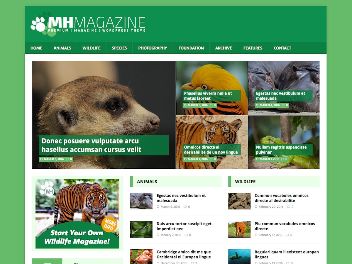 MH Biosphere Download Free Wordpress Theme 4