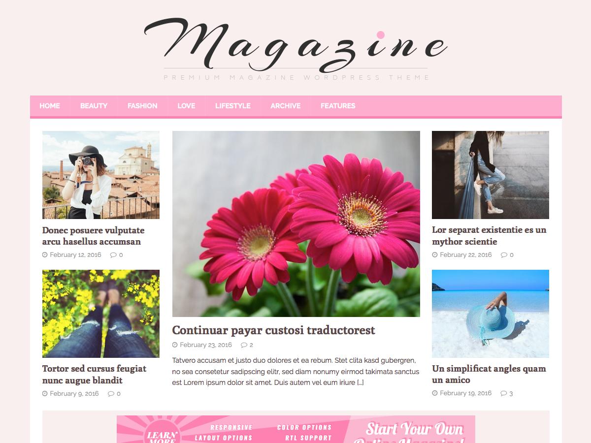 MH FeminineMag Download Free Wordpress Theme 3