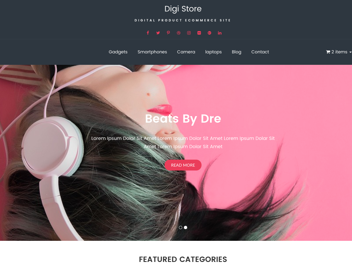 Digi Store Download Free Wordpress Theme 4